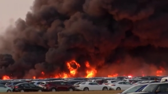 A Massive Fire In Florida Damaged More Than 3,500 Rental Cars In A Blaze So Big Michael Bay Would Be Jealous