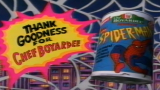 Guy Opens 'Wildly Corroded' Can Of Spider-Man Pasta From 1995 And The Contents Do Not Disappoint