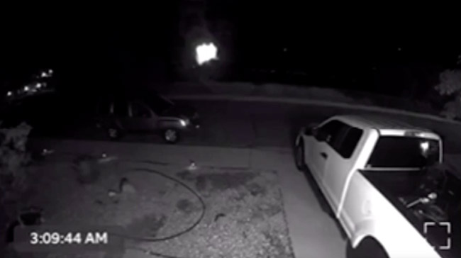 Cloaked UFO Caught On Video By Infared Security Camera California