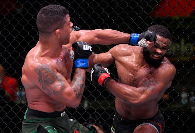 Tyron Woodley Suffers Gruesome Cut Over His Eye During Fight With Gilbert Burns At UFC Vegas