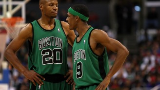 Ray Allen And Rajon Rondo Put On Boxing Gloves And Fought At Practice After Rondo Found Out Ray Wanted To Trade Him For Chris Paul