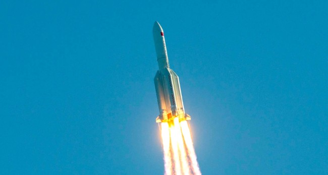 A Massive Chinese Long March 5B Rocket Fell Uncontrolled Back To Earth