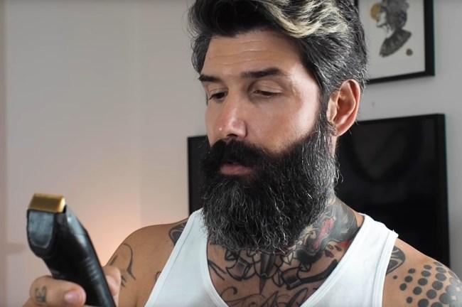 beard model 10 year shave