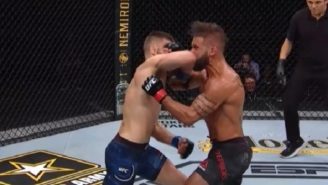 Calvin Kattar Knocks Out Jeremy Stephens With A Nasty Elbow At UFC 249