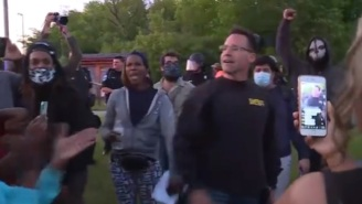 Sheriff Chris Swanson Ordered Officers To Put Down Their Batons And Marched Side-By-Side With Protesters In Flint, Michigan