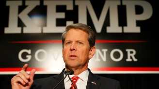 Crowd Gathers Close Together In Long Lines To Buy New Air Jordan Sneakers At Atlanta Mall After Governor Brian Kemp Reopened State