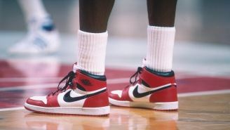 A Record-Breaking Pair Of Michael Jordan's 1985 Game-Worn Shoes Sold For Over Half A Million Dollars