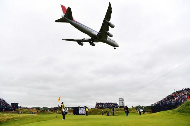 pga tour charter jet plane players caddies