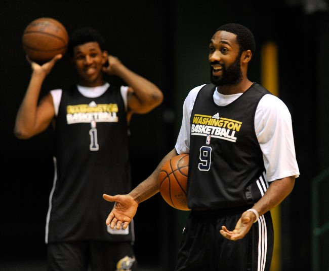 Gilbert Arenas jokes that he used to sleep with Nick Young's thot to mess with him