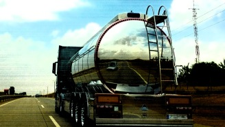 Guy Crawls Under Tanker In His Underwear, Sucks Wine Straight From The Valve As It Speeds Down Highway, Gets Arrested