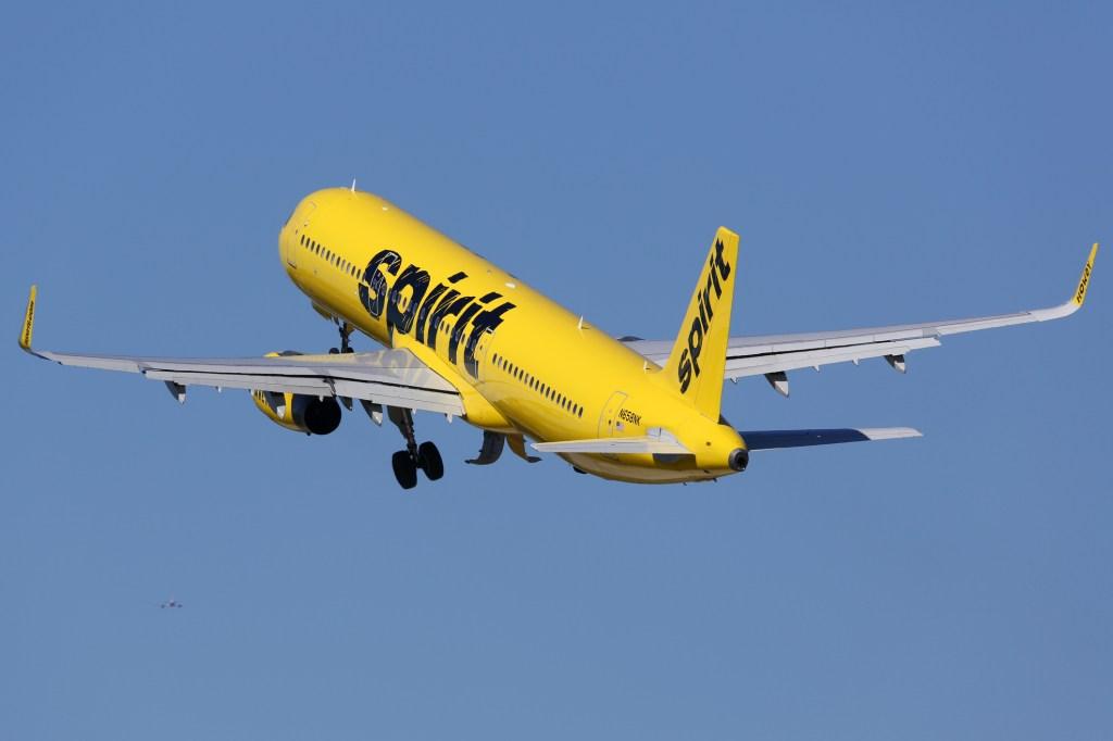 Spirit Airlines passenger smokes cigarette