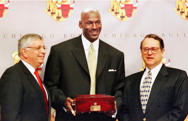 Bulls owner Jerry Reinsdorf was not happy with Michael Jordan's claim about team bringing back core roster for 7th title run