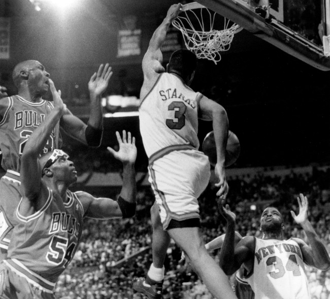 Here's the reason why Michael Jordan's airbrushed out of the Topps card of John Starks' iconic dunk