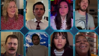 The 'Parks And Rec' Cast Reunited To Sing This Li'l Sebastian Tribute And It Felt Like Someone Was Chopping Onions In A Dust Storm