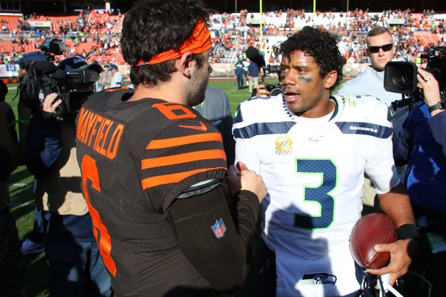 There was an apparent trade rumor involving Russell Wilson and the Cleveland Browns prior to the 2018 NFL Draft