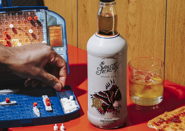 sailor jerry spiced rum uso label