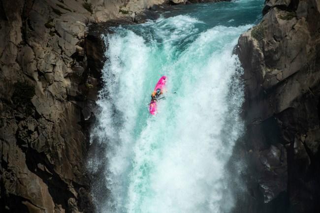 Dane Jackson kayaker Salto del maule