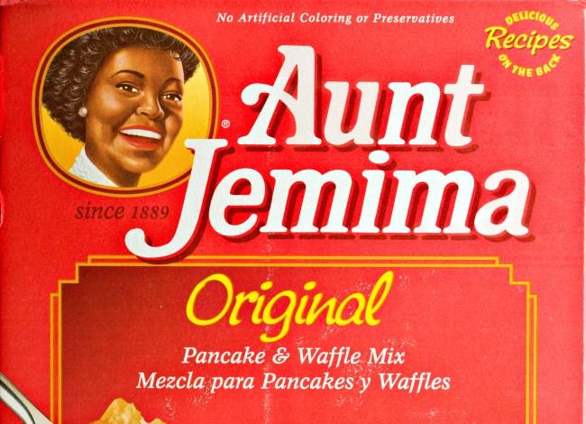 Aunt Jemima Pancake And Waffle Mix.