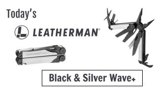 Today's Leatherman: Black & Silver Wave+