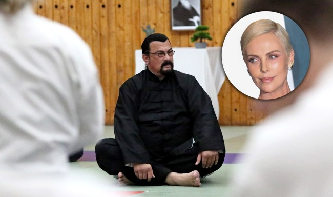 Charlize Theron Rips Steven Seagal Overweight Can Barely Fight