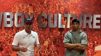 OSU Coach Mike Gundy Offers Awkward 'Apology' Alongside Of Chuba Hubbard