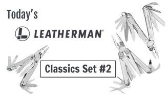 Today's Leatherman: Classics Set #2
