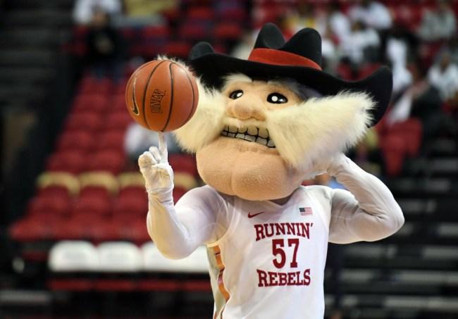 unlv removes statue runnin rebels mascot confederate ties