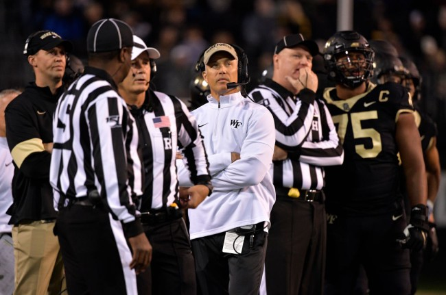 wake forest dave clawson isolating from wife all season