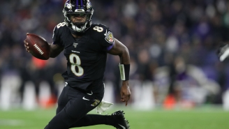 Ravens Fans Freak Out After Video Shows Lamar Jackson Nearly Crashing Into A Jet Ski While Playing Tackle Football At The Beach