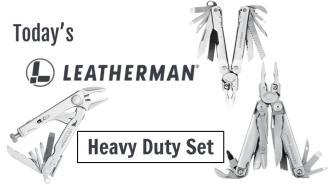 Today's Leatherman: Heavy Duty Set