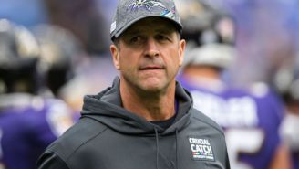 John Harbaugh Surprisingly Says He Hasn't Heard From The NFL About Maskless Argument With Ref