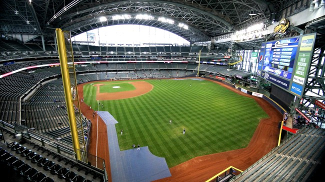 Man Breaks Into Brewers Stadium Tries To Carve His Name Into Field