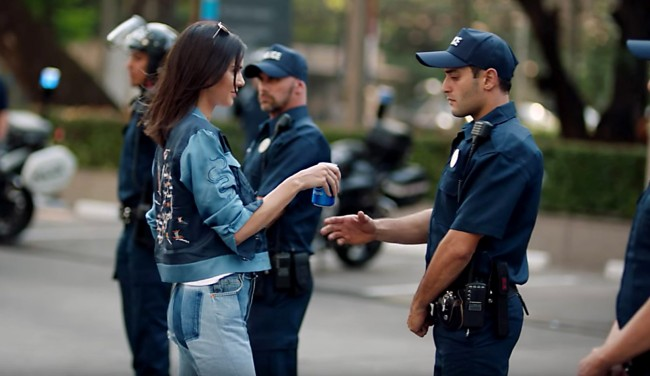 Protesters Try To Give Pepsi To Police It Helped In The Commercial