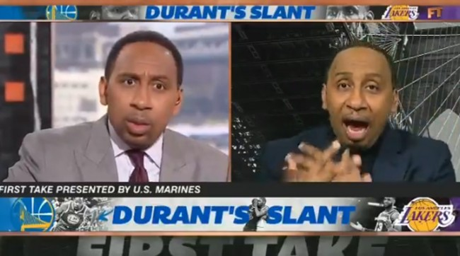 Someone Created A Hilarious Video Of Stephen A Smith Debating Himself