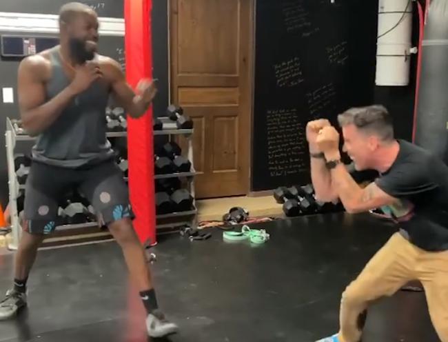 Steve-O fights Jon Jones