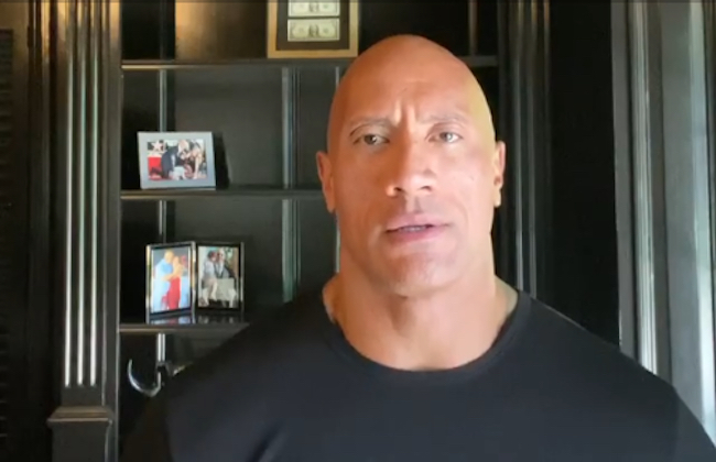 The Rock calls out president