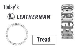 Today's Leatherman: Tread