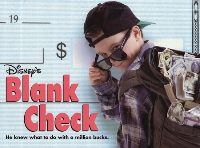 blank check disney