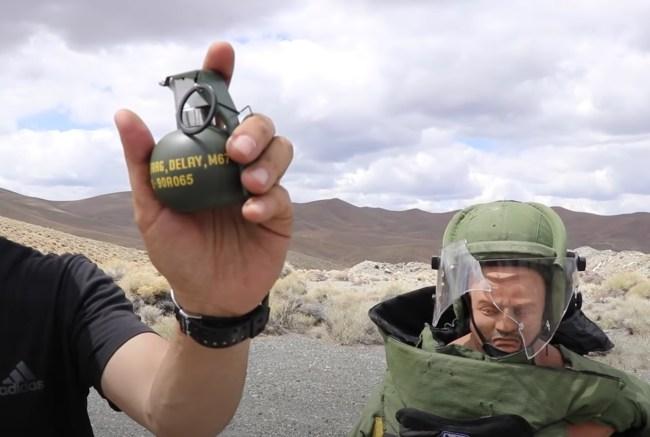 Bomb Suit vs Frag Grenade