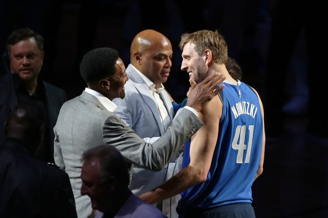 Charles Barkley, Michael Jordan and Scottie Pippen once got their asses kicked by a teenage Dirk Nowitzki