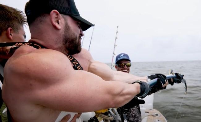 Nelk Boys and Bradley Martyn fishing for sharks