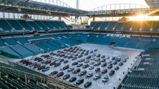 The Miami Dolphins Open Socially Distanced Drive-In And Open-Air Theaters At Hard Rock Stadium