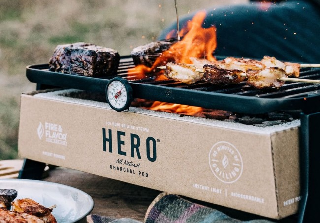 The Hero Grill portable charcoal grill