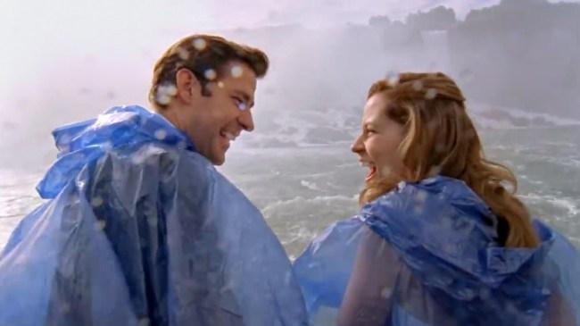 Jim And Pam's Niagara Falls Wedding Episode Originally Featured Dwight Riding A Horse Into The River