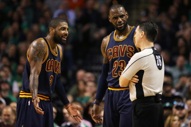 "Ryan Hollins claims LeBron James taught Kyrie Irving ""poor leadership"" while they were teammates on the Cleveland Cavs"