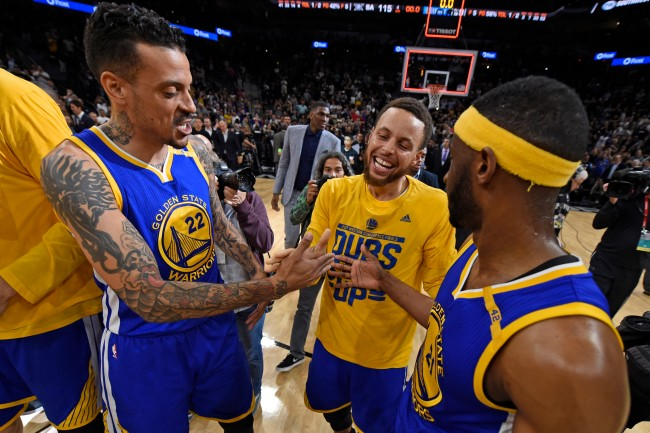 Former NBA player Matt Barnes claims Steph Curry owes him a smoke after the two won an NBA title together