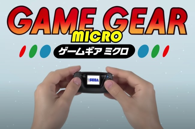 SEGA Game Gear Micro Details Games Dates