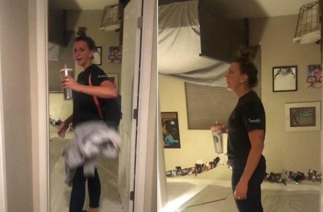 upside down roommate prank
