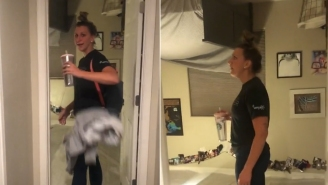 This Girl Pulls Off Ultimate Prank By Completely Flipping Her Roommates Room Upside Including Attaching The Bed To The Ceiling