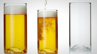 Your Man Cave Needs These Glorious Topographic Beer Glasses That Honor Yosemite's Iconic Half Dome